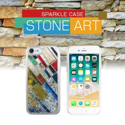 【10%OFFクーポン付】iPhone8 ケース iphone7 ケース icover Sparkle case Stone Art iphone8ケース iphone7ケース iphoneケース...