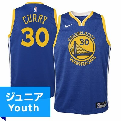NBA スウィングマンジャージ ステフィン・カリー(ジュニア ブルー)ウォリアーズ Nike Stephen Curry Golden State Warriors Youth Blue...