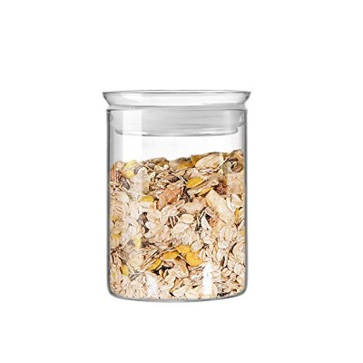 (27oz/800ml) - ZENS Glass Storage Jar Airtight Lid with Silicon Sealing Ring Dishwasher Safe...