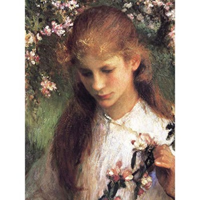 Clausen Apple Blossom Girl Flowers Painting Extra Large Wall Art Print Premium Canvas Mural...