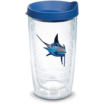 Tervis 1315234 Guy Harvey - Real Marlin 断熱タンブラー エンブレムと蓋付き 16オンス クリア