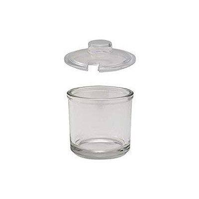 Winco CJ-7G, 210ml Glass Condiment Jars with Plastic Slotted Covers, Clear Sauce Seasoning Cups...