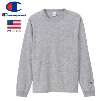 CHAMPION T1011 LONG SLEEVE T-SHIRT POCKET 【MADE IN U.S.A.】 チャンピオン T1011 ロングスリーブ Tシャツ ポケット OXFORD...