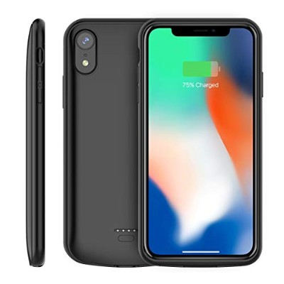 iPhone Xr 5000mAh Battery Case, Moonmini スマホケース Cover Charger Power Bank Charging Case For iPhone...