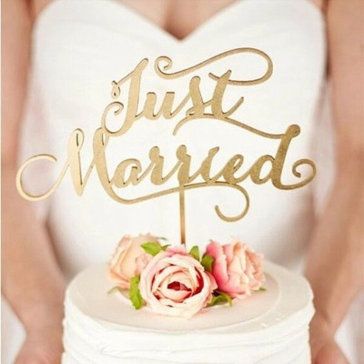 Just married ケーキトッパー ウェディングケーキ 結婚式 リゾート