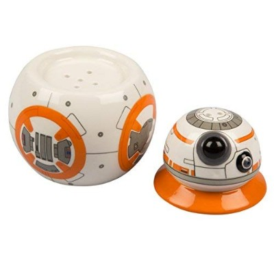 Star Wars BB-8 Salt and Pepper Shakers - Ceramic 2 Piece with Removable Head