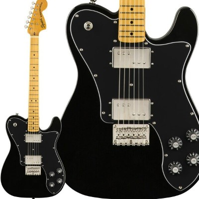 Squier by Fender Classic Vibe '70s Telecaster Deluxe Maple Fingerboard Black エレキギター テレキャスター 【スクワイヤー...