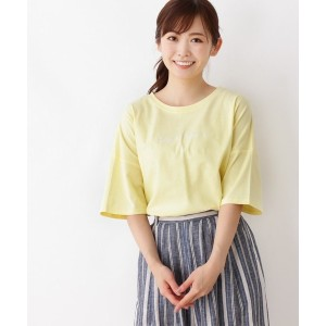 【3can4on(Ladies)(サンカンシオン(レディース))】 ロゴビッグTシャツ OUTLET > 3can4on(Ladies) > トップス > Tシャツ イエロー