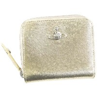 【SALE 40%OFF】ヴィヴィアンウエストウッド Vivienne Westwood PIMLICO MEDIUM ZIP WALLET (GOLD) レディース