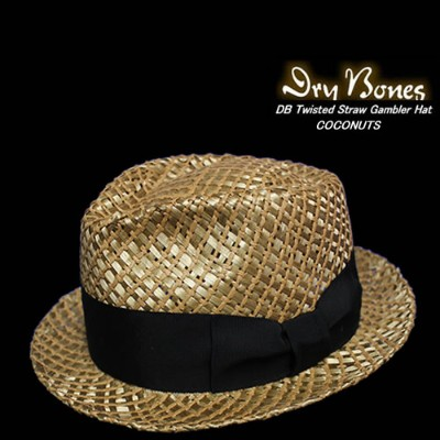 DRY BONESドライボーンズ◆Twisted Straw Gambler Hat◆◆COCONUTS◆DCH-309