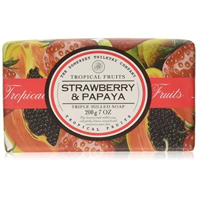 Tropical Fruits Strawberry & Papaya Triple Milled Soap 200g