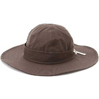【SALE 40%OFF】バックレースアップつば広ハット BROWN