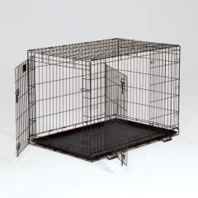 Life Stages Fold & Carry Double-Door Dog Crate Size: Large - 42 L x 28 W x 31 H by Midwest Pets
