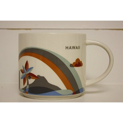 Starbucks Hawaii - You Are Here Collection Coffee Mug with Rainbow and Diamond Head