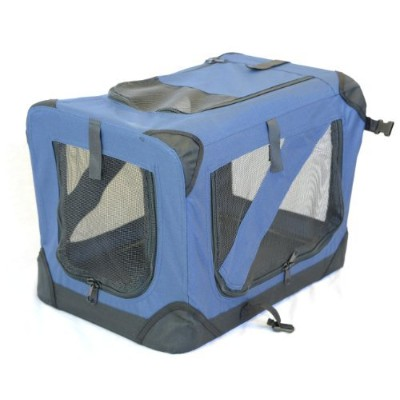topPets Portable Soft Pet Crate or Kennel for Dog, Cat, or other small pets. Great for Indoor and...