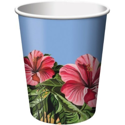 Polynesian Parrot Party 270ml Paper Cups 8 Per Pack
