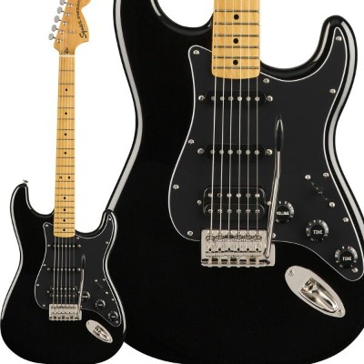 Squier by Fender Classic Vibe '70s Stratocaster HSS Maple Fingerboard Black エレキギター ストラトキャスター ...