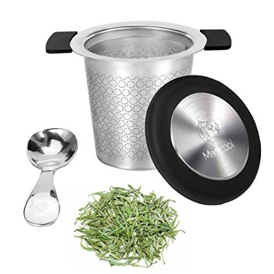 MAGICOOL Tea Infuser with Scoop Set for Mug and Teapot / Mirco Mesh Perfit Stainless Steel