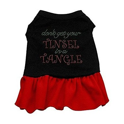 Tinsel in a Tangle Rhinestone Dress Black with Red Sm (10)