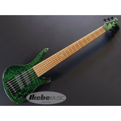 """ROSCOE《ロスコー》 LG3006/35"""" """"Exhibition grade Quilted maple top, Emerald Green""""【あす楽対応】"""