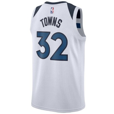ナイキ Nike メンズ バスケットボール トップス【NBA Swingman Jersey】NBA Minnesota Timberwolves Karl-Anthony Towns White