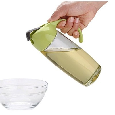 (Green) - Olive Oil Dispenser Glass Bottle,500ml Leakproof Cooking Oil Storage Container With...