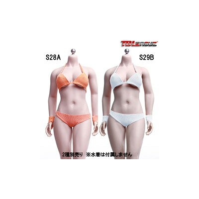 【TBLeague】Female Super Flexible Seamless Bodies PHMB2019-S28A (pale) S29B (suntan) TBリーグ 1/6スケール シームレス女性ボディ (ヘッドなし)