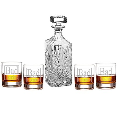 Bad hombre Engraved Decanter Set with Rocks Glasses