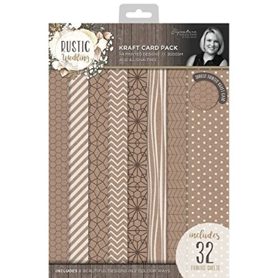 Rustic Wedding Single-Sided Cardstock Pad A4 300gsm 32/Pkg-8 Designs/2 Colors/2 Each