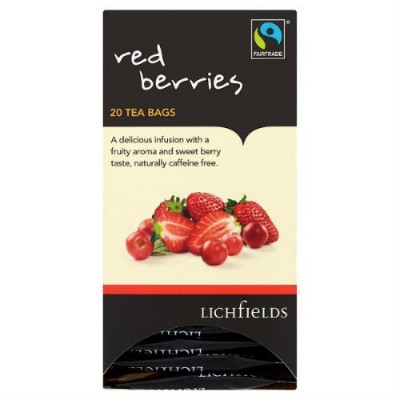 Lichfields Fairtrade Red Berries 20 Tea Bags 40g