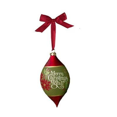 Merry Christmas Y'all Ornament - 7 Inches x 3-1/2 Inches by Grasslands Road
