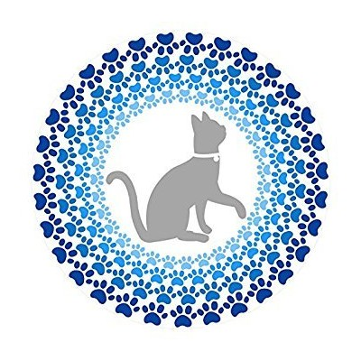 (Cat Mandala Mosaic) - Screen Door Magnets - Twist, Click and Lock - Keep People and Pets from...