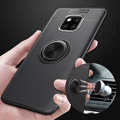PHONE CASE HOME Huawei社p30プロ携帯電話シェルカーブラケットアンチドロップ磁気は環境保護シースを指します (Color : Black Blue, Size : Huawei...