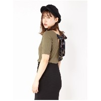 【SALE 17%OFF】CECIL McBEE BACKリボンTOPS カーキ