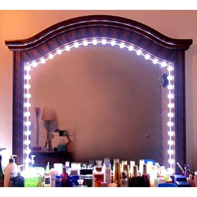 (White 6ft) - Hollywood Style Vanity Mirror Lights Makeup Mirror Lights Anti-Glare Luxurious LED...