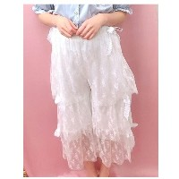 【SALE 30%OFF】Swankiss TSribbonlaceガウチョ ホワイト