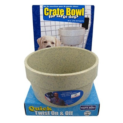 Happy Home Crate Bowl for Large Dogs - 20-ounce Capacity by Happy Home Pet Products