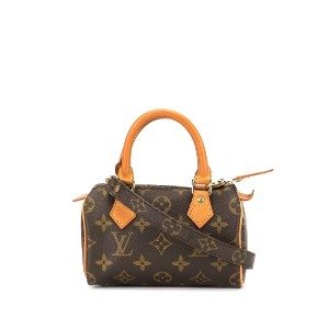 LOUIS VUITTON PRE-OWNED スピーディ モノグラム 2way バッグ ミニ - ブラウン