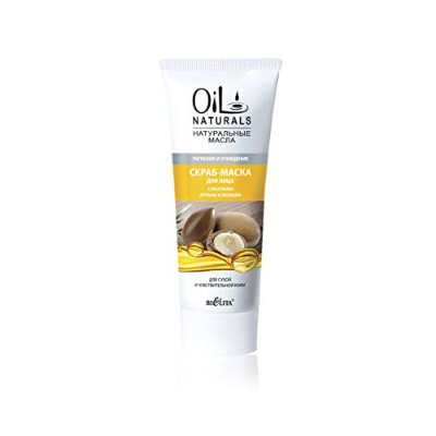 Bielita & Vitex Oil Naturals Line | Nourishing & Cleansing Face Scrub-Mask for Dry and Sensitive...