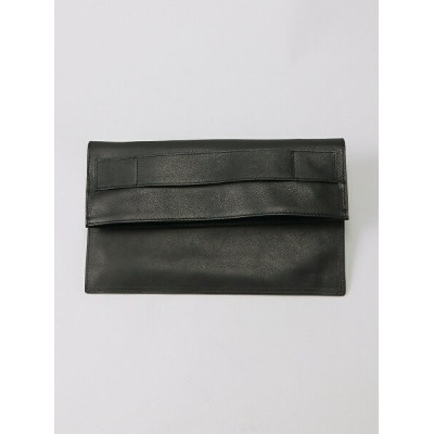 PATRICK STEPHAN (U)Leather shoulder / clutch bag 'tape' パトリック ステファン バッグ クラッチバッグ ブラック【送料無料】