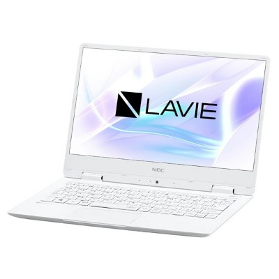 NEC LAVIE Note Mobile 12.5型ノートパソコン Core i5 メモリ8GB SSD256GB Office付き Windows10 ホワイト PC-NM550KAW ...