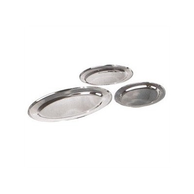Winco OPL-22 Stainless Steel Oval Platter, 21.75-Inch by 14.5-Inch by Winco