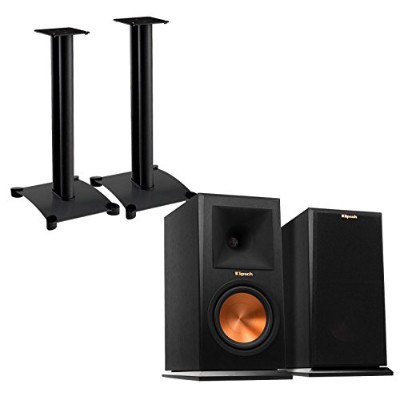 Klipsch Reference Premiere rp160 mペアブックシェルフスピーカーwith Sanus sf26b1 (ペア) Bookshelf Speaker Stands –...