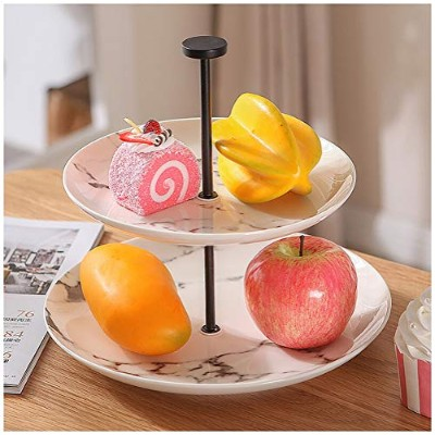 Product Size 10.6 /× 13.4 JSSFQK Ceramic Three-layer Fruit Dish Pastry Rack