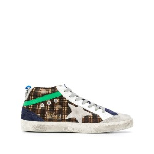 Golden Goose checked sneakers - ブラウン