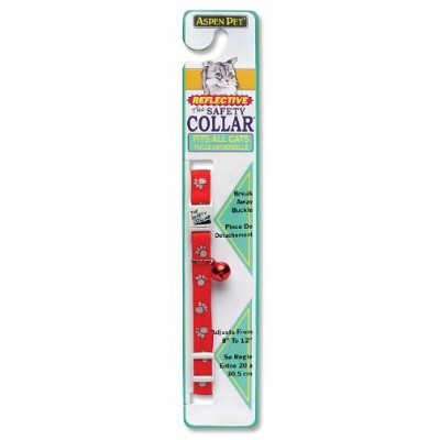 Petmate Reflective Paw Breakaway Collar, 3/8-Inch, Red by Petmate