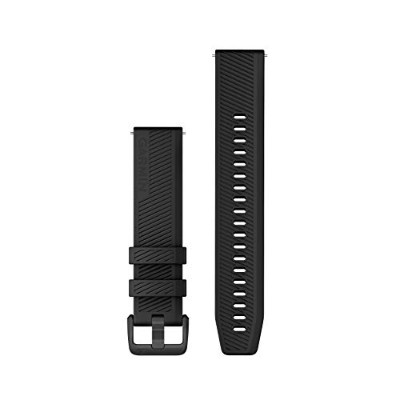 GARMIN(ガーミン) QuickRelease バンド 20mm Black Stainless Steelシリコン  010-12926-01