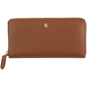 レディース LAUREN RALPH LAUREN LEATHER CONTINENTAL LARGE WALLET 財布  ブラウン