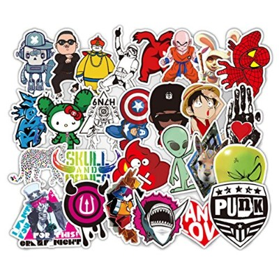 (Stickers 500 pcs B) - DOFE Car Stickers 500 pcs, Laptop Stickers,Motorcycle Bicycle Luggage Decal...