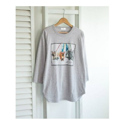 [Rakuten Fashion]LeftyArt×URBANRESEARCH別注7SLEEVE3bulldogs URBAN RESEARCH アーバンリサーチ カットソー Tシャツ ベージュ...